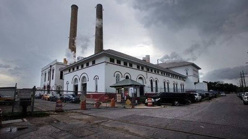 This photo shows a portion of the Sewerage & Water Board's water and power plant located on...