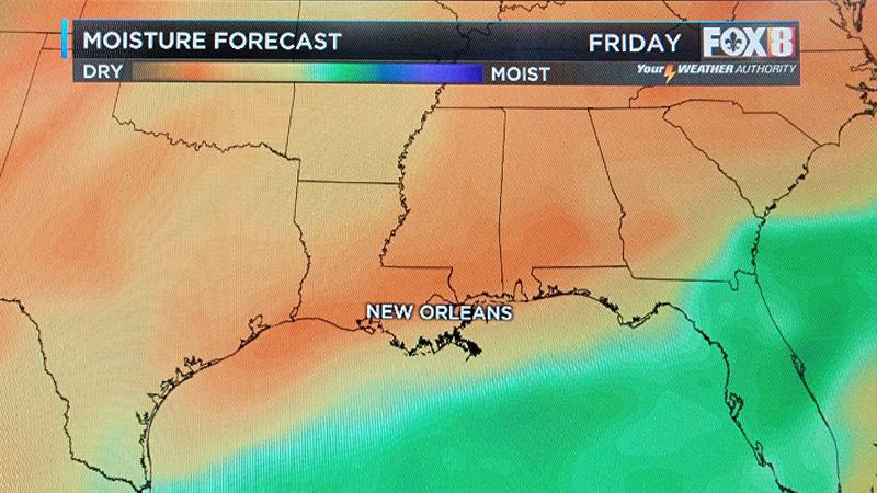 Hot and humid conditions give way to a more comfortable feel to the air behind a cold front...