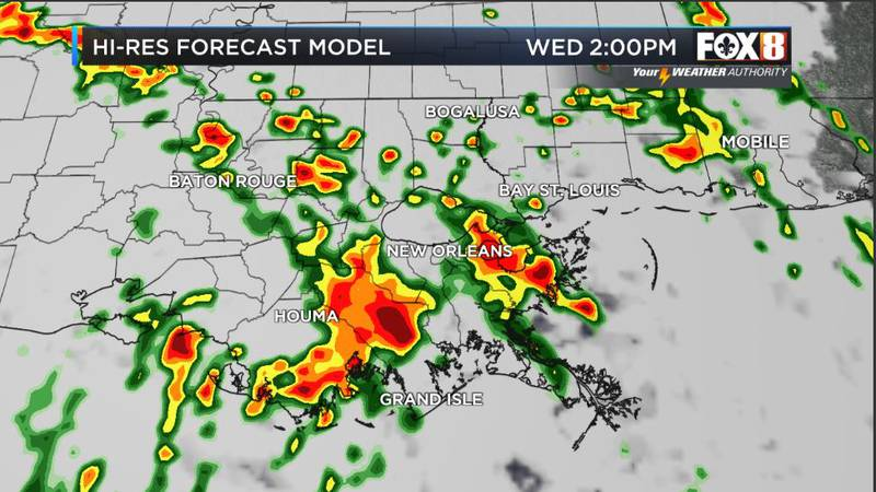 Heavy downpours may cause flooding
