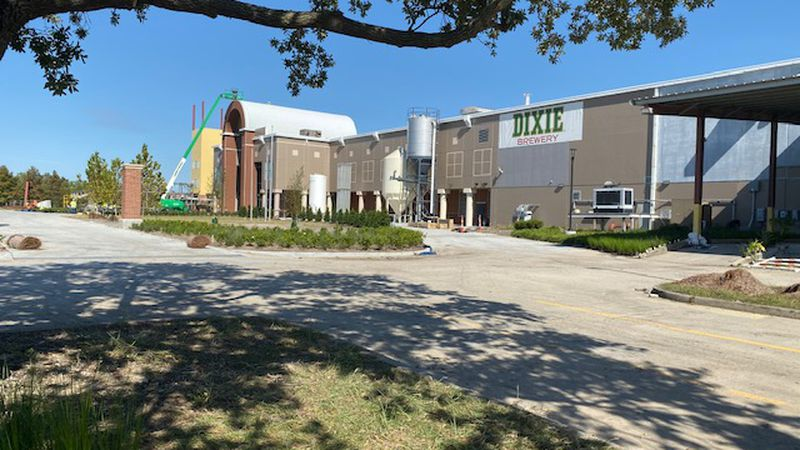 Finishing touches are being put on the brand new $30 million Dixie Brewery in New Orleans East