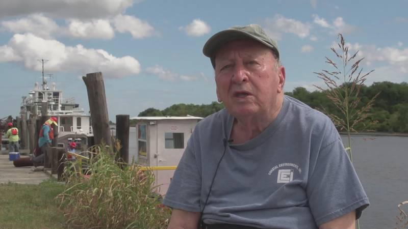 "Dr. Sherwood ""Woody"" Gagliano in Hopedale, Louisiana"
