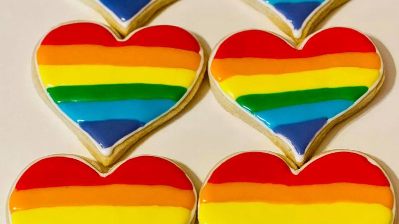 """Confections wrote """"Happy Pride to all our LGBTQ friends! All lovers of cookies and happiness..."""