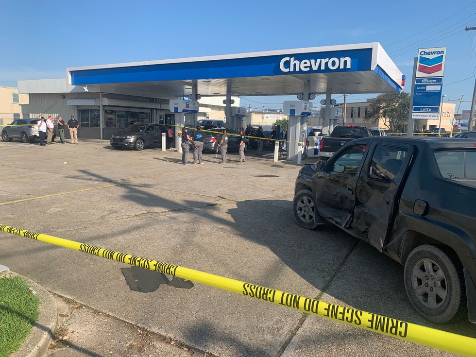 A man was killed in line for gas in Metairie, according to the Jefferson Parish Sheriff's Office.