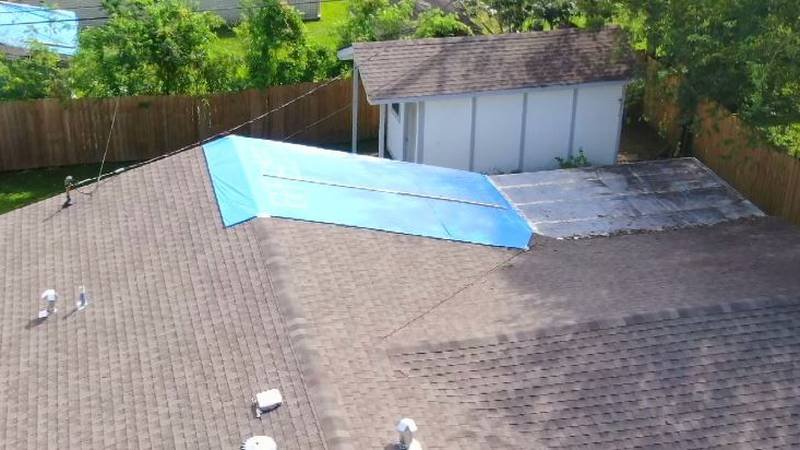 A Blue Roof was mistakenly installed on a woman's roof who never ordered one following...