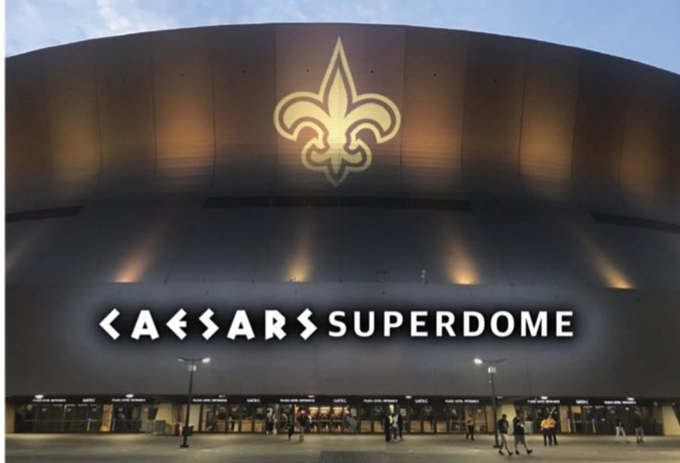 Artist renderings show what the new Caesars Superdome will look like.