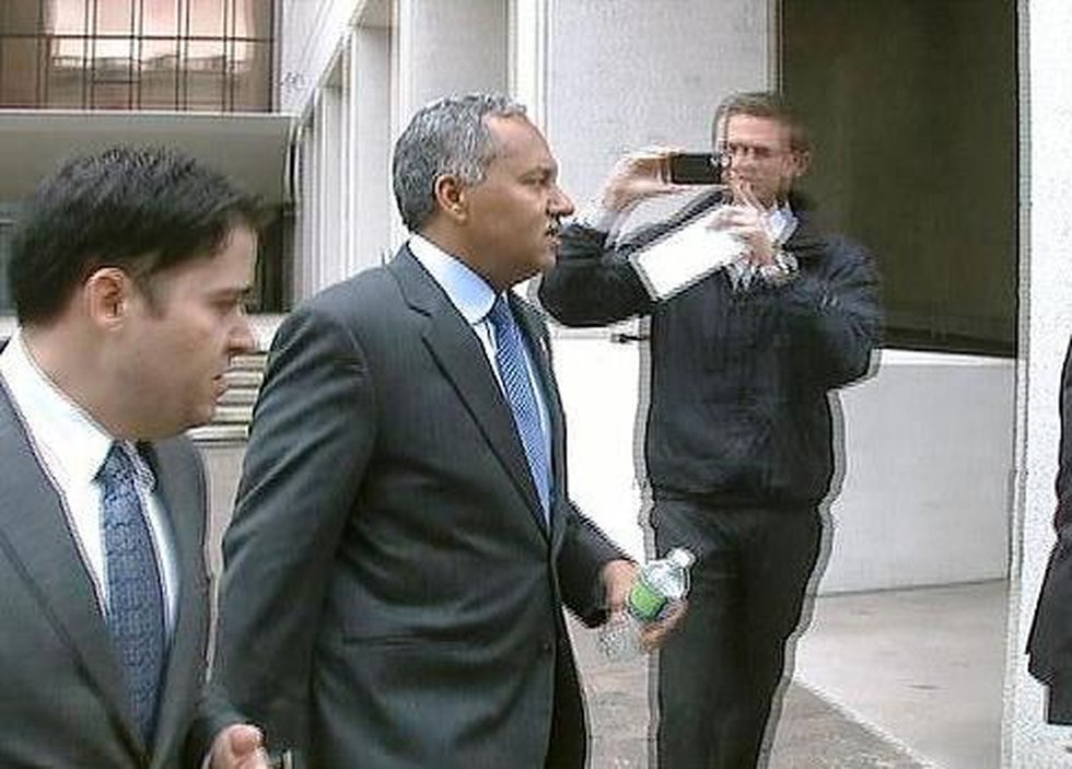 Sheriff Marlin Gusman leaves federal court after hours of testimony.