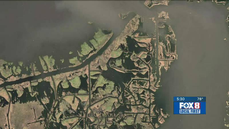 Ida coastal land loss