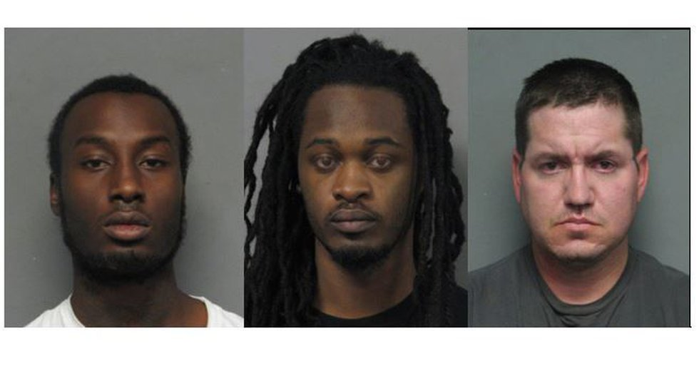 From left to right: Geral Bowman, 24; Avion Nelson, 24; Michael Zeringue, 32 (Source: Jefferson...
