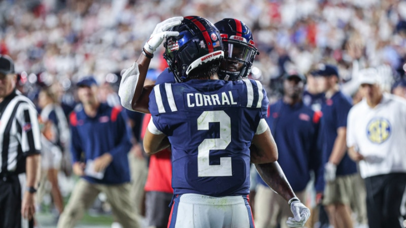 Corral ran for four touchdowns – 9, 15, 15 and 6 yards – and passed for three scores, finishing...