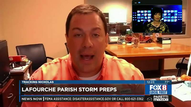 Lafourche Parish planning for Nicholas rains