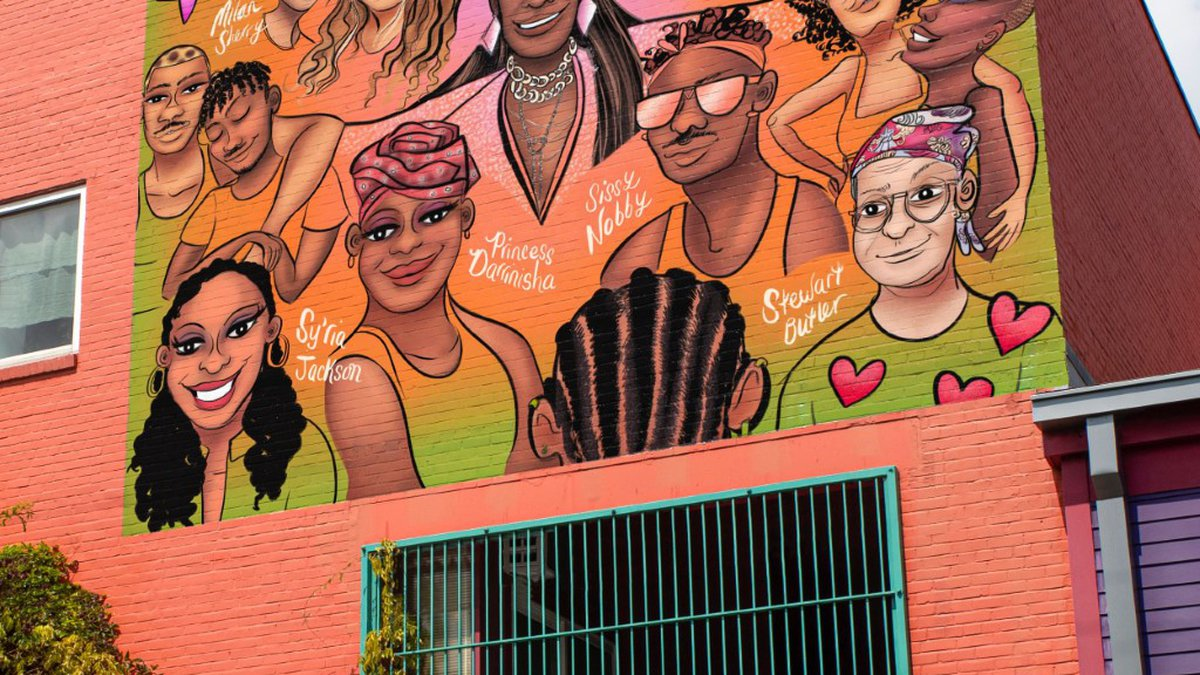 New York-native Mohammed Fayaz created a mural celebrating local LGBTQ+ artists.