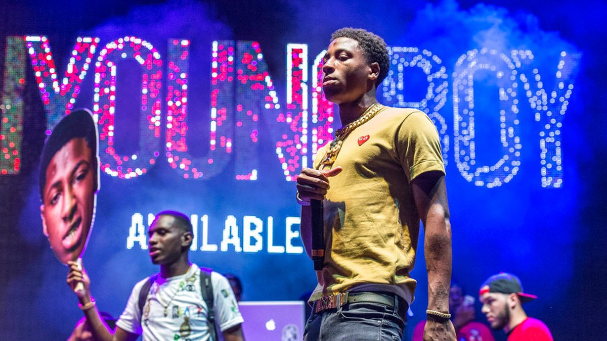 NBA YoungBoy performs at the Lil' WeezyAna Fest at Champions Square on Friday, Aug. 25, 2017,...