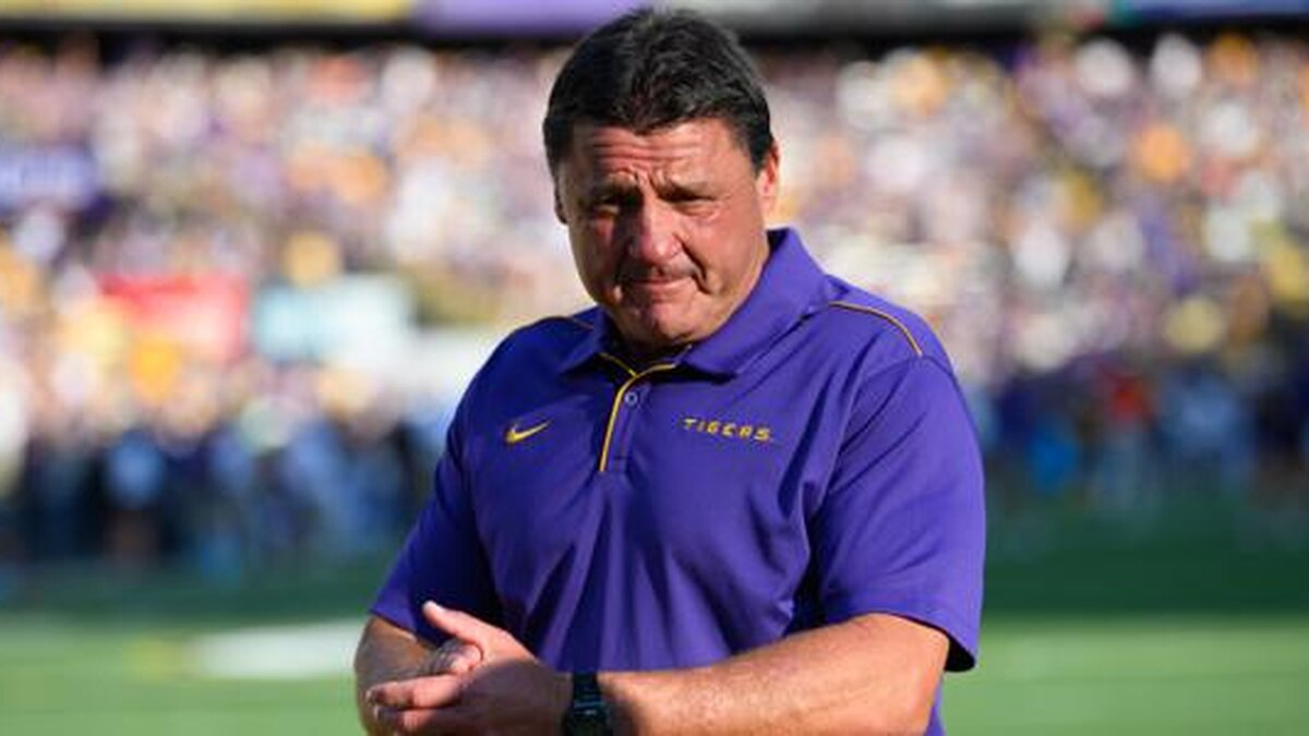 GF Default - Ed Orgeron welcomed home with hugs, cheers from young LSU fans