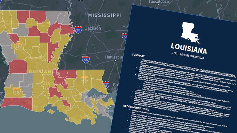 For the first time, Louisiana is listed as a yellow zone state in the White House's Coronavirus...