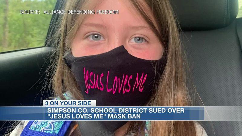 "Simpson Co. School District Sued over ""Jesus Loves Me"" Mask Ban"