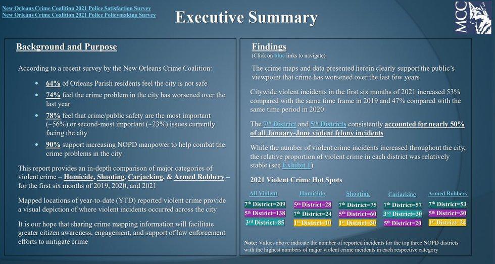 Metropolitan Crime Report