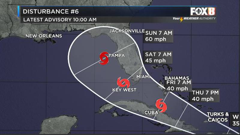 Possible Gulf storm this weekend