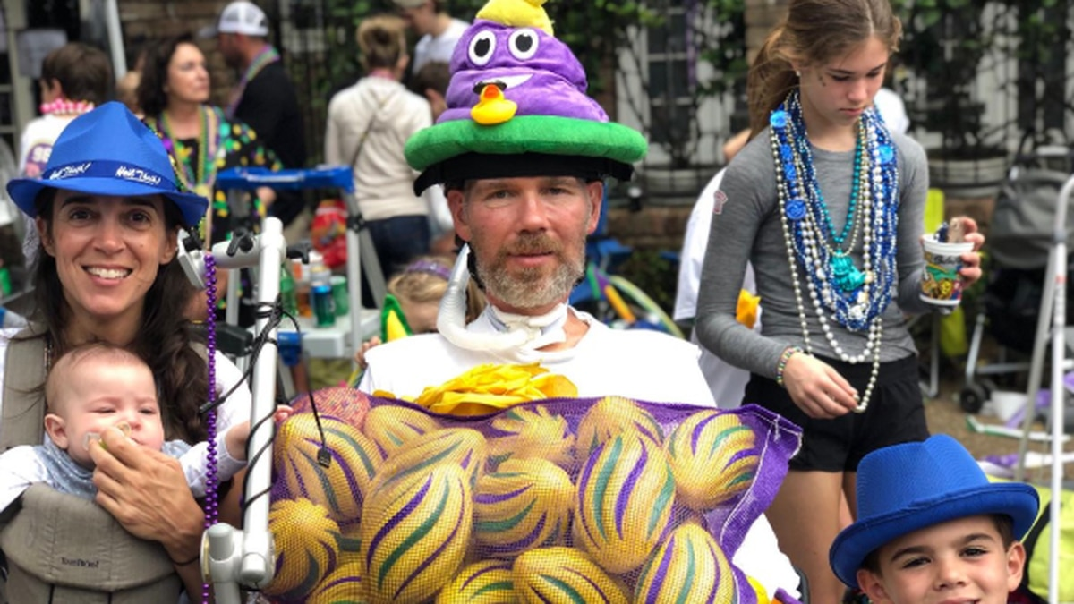 Steve Gleason was in New Orleans for parades before heading to Arizona to see the Cubs play.