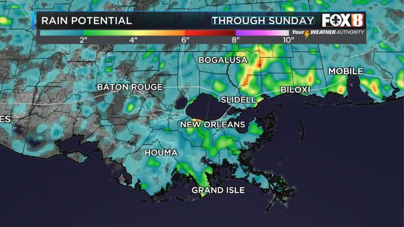 More spotty weekend rain