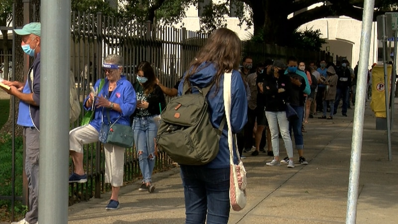 Voters turned out in droves in New Orleans and neighboring Jefferson Parish on the first day of...