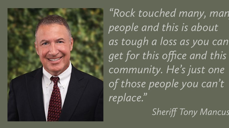 Calcasieu Parish Sheriff Tony Mancuso on the loss of Rock Palermo, who was killed Tuesday, Feb....
