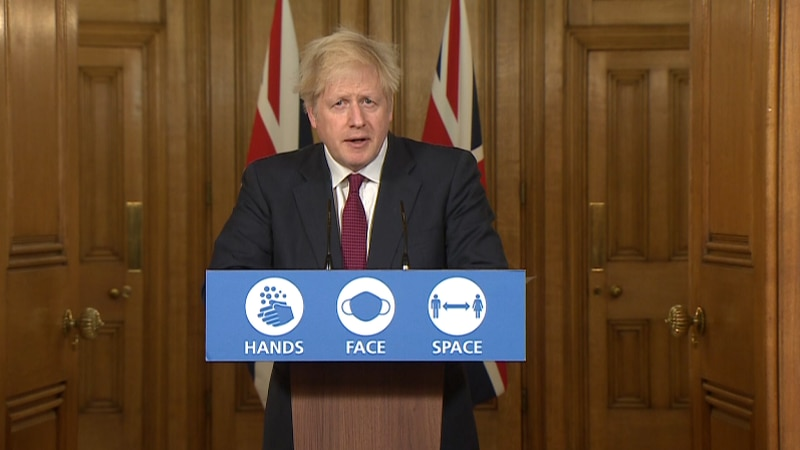 Britain PM Boris Johnson announces halt to Christmas plans and lockdown after discovering new...