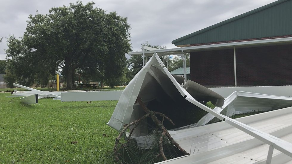 Tropical Storm Claudette created flooding concerns and the storm's high winds left a path of...