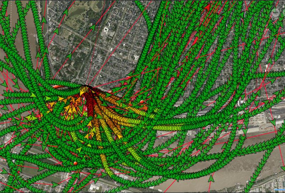 In an update to neighbors, Children's Hospital shows the flight paths for their helicopter in...