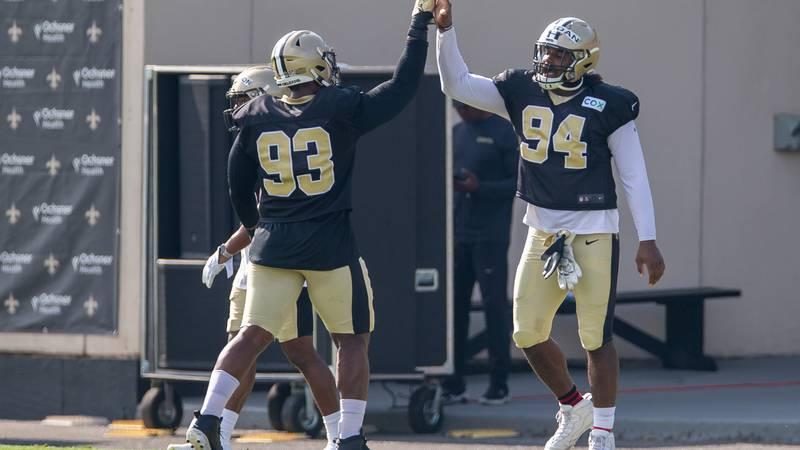New Orleans Saints defensive end Cameron Jordan (94) and New Orleans Saints defensive tackle...