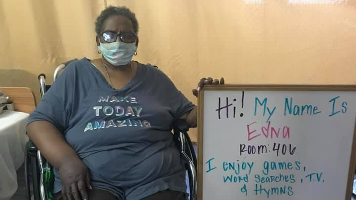 Edna in Room 406 at the Gonzales Healthcare Center is looking for pen pals around the country.