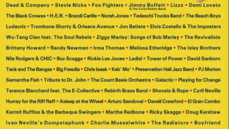 Jazz Fest 2021 lineup