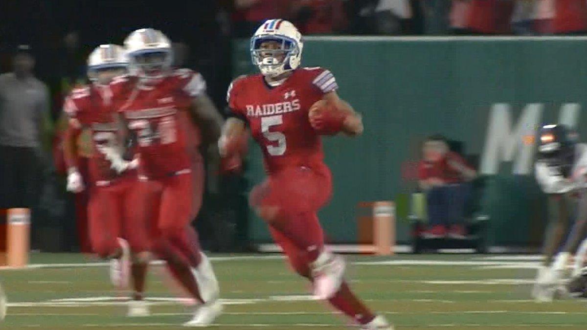 Rummel do-it-all senior Donovan Kaufman runs in the open field during a kickoff return touchdown