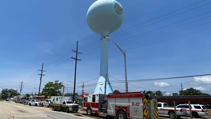 An ill city worker was rescued by firefighters in Slidell's water tower.