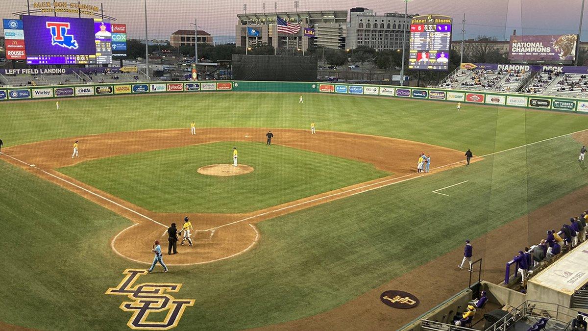 LSU hosted Louisiana Tech at Alex Box Stadium on Monday, Feb. 22.