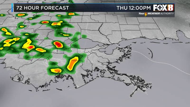 Drier skies starting Friday into the weekend