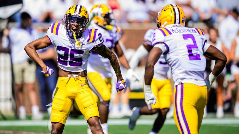 The LSU defense forced some big turnovers in Starkville.