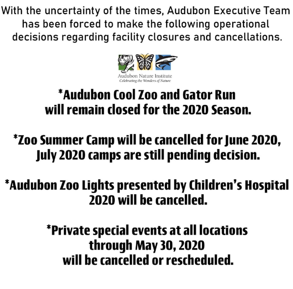 Aububon Cancellations