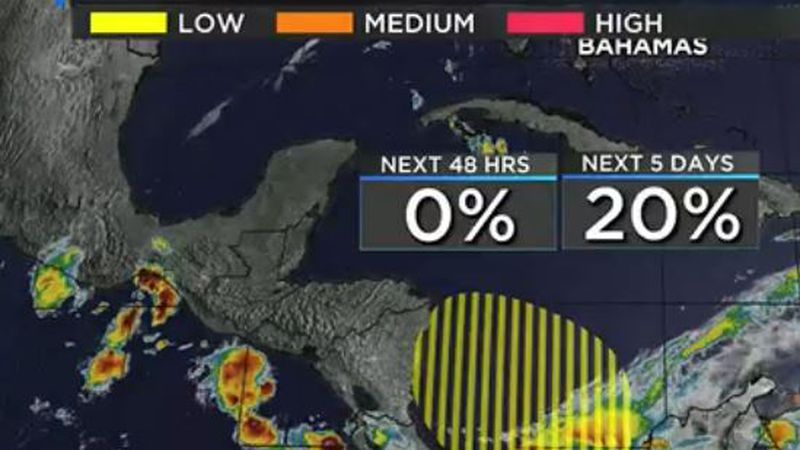 An area of low pressure is expected to develop over the southwestern  Caribbean Sea by Thursday...
