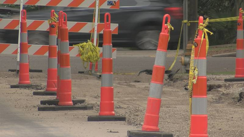 Stalled street construction