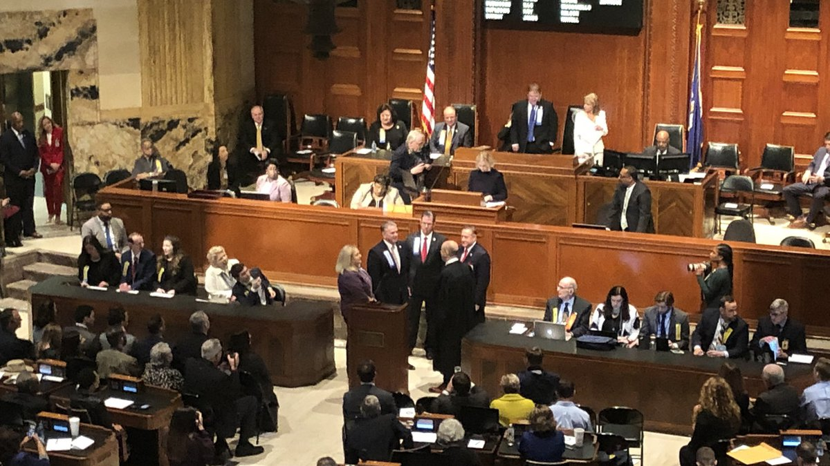 Clay Schexnayder delivered an emotional speech after being elected Speaker of the House.