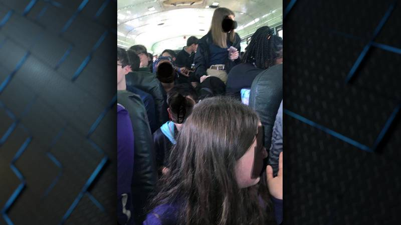 The assistant superintendent says 45 to 50 students were put on this bus after a driver called...