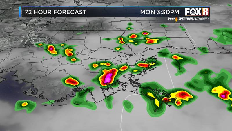 Monday afternoon showers