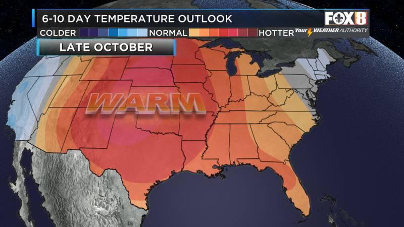 Warm humid air returns this week with rain chances