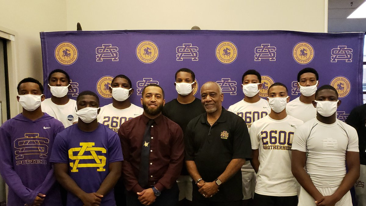 Principal Gerald DeBose and students raise awareness to the importance of receiving the...