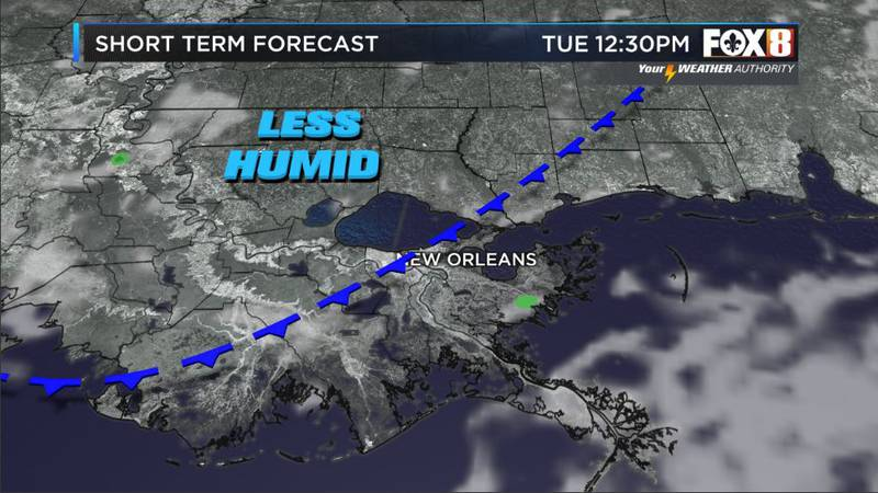 Bruce: Showers today-Drier skies tomorrow
