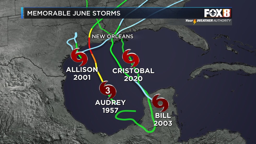 A look back at memorable June tropical systems