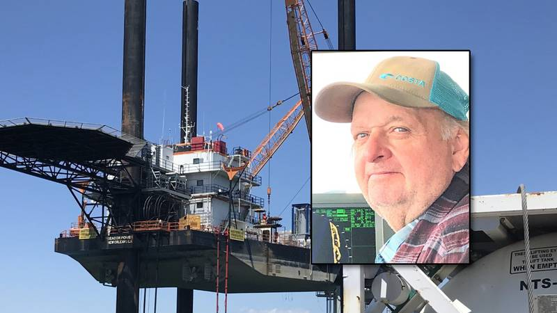 Captain David Ledet, 63, was recovered from the Seacor Power after it capsized in a microburst...