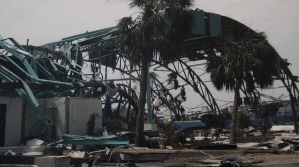 The catastrophic damage to the Institute for Marine Mammal Studies, Gulfport, MS