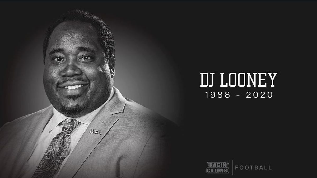 UL Lafayette assistant football coach D.J. Looney died after collapsing at a team practice...