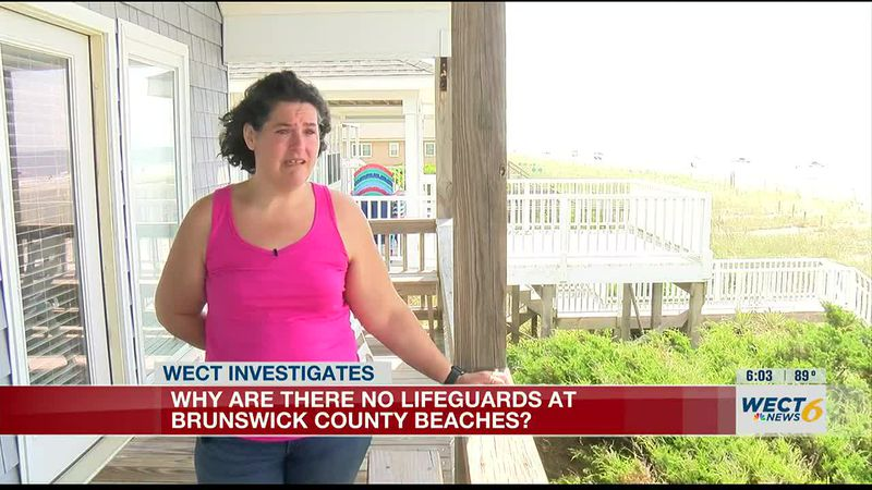 Why are there no lifeguards in Brunswick County?